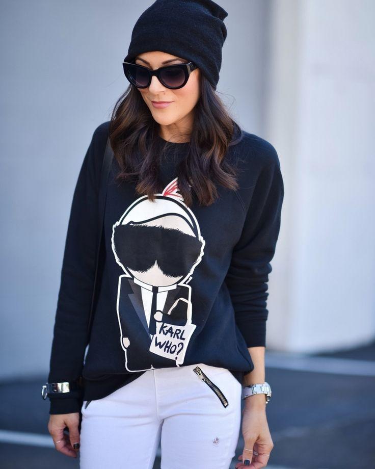 Vêtements Pour Femmes, Noir, Acrylique, 2017, Taille Universelle Karl Lagerfeld