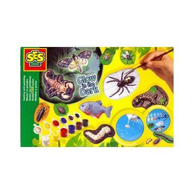 Gipsgieten enge beesten  Glow in the Dark gipsgietset met enge beesten! Maak nu je eigen wormen spinnen en schorpioenen die oplichten in het donker. Set is compleet met gips verf en een penseel.  EUR 8.99  Meer informatie