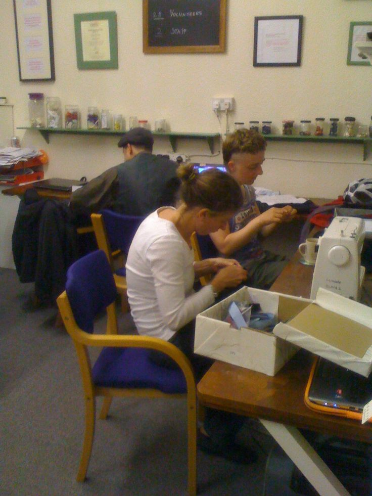 Our usual sewing and mending was on hand too, and we helped mend ripped jumpers and broken zips.