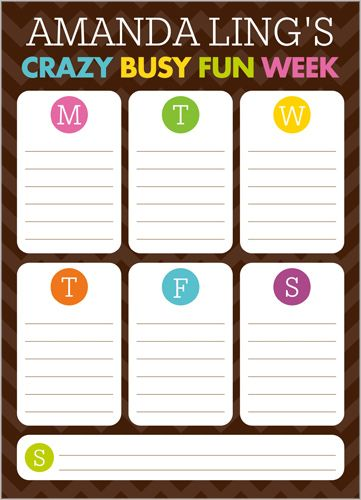Crazy Week 5x7 Notepad by Stacy Claire Boyd | www.Shutterfly.com