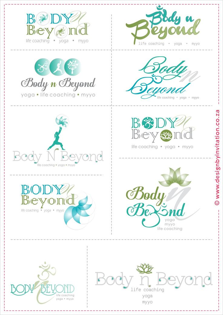 Body & Beyond Yoga, Life Coaching, Myyo - Logo Design © www.designbyinvitation.co.za