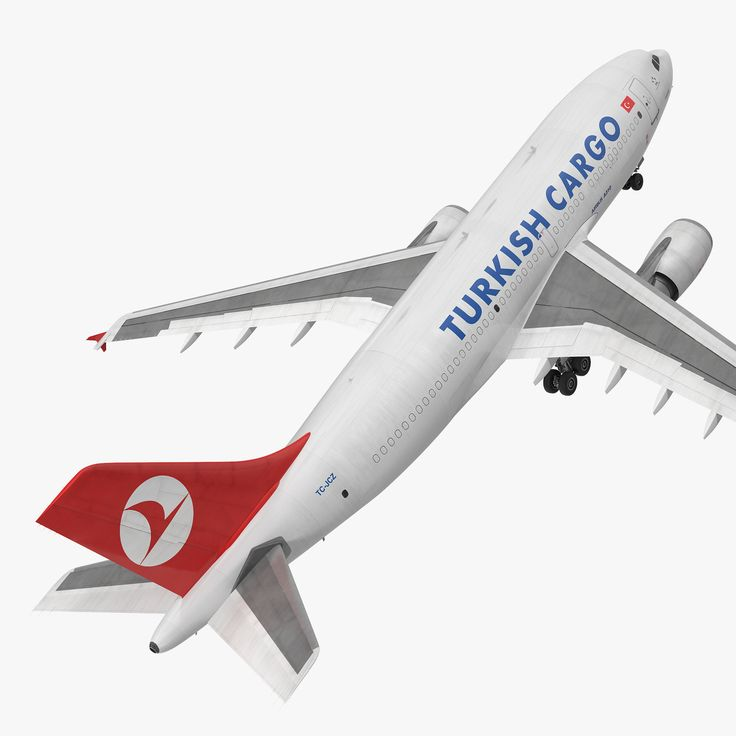Airbus A310-300F Cargo Aircraft Turkish 3d model