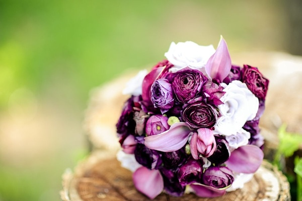 Gorgeous purple flowers our-wedding