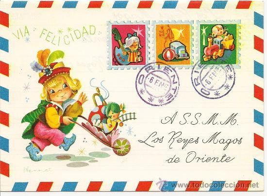 Preciosa Carta diriguida a los Reyes Magos. Editada en el año 1969 - Foto 1
