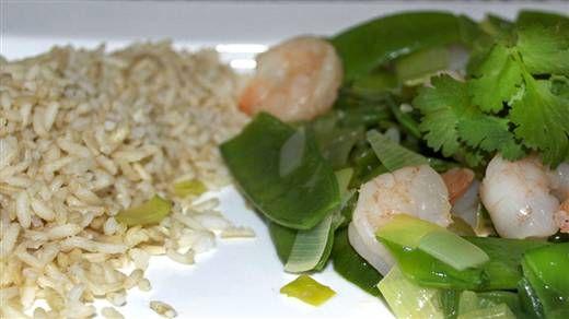 Recept - Gamba's met peultjes en rijst #NLFit