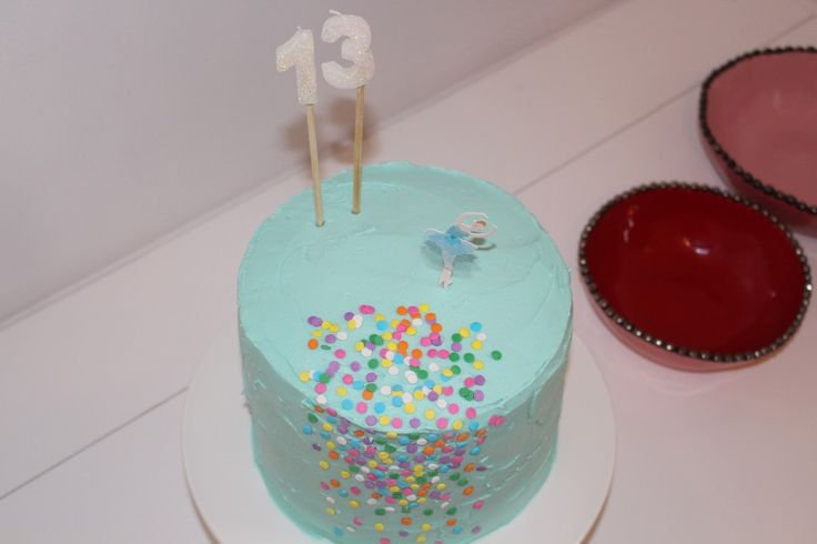 Sky Blue frosting with Confetti