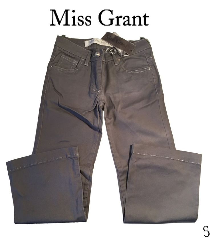 Stylish Miss Grand Kids Grey Pants With Sequin Diamond Ring _Size: 32 - 6/7 Anni #MissGrant #CasualPants #DressyEverydayHoliday