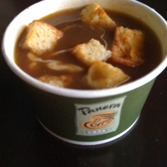 Panera French Onion Soup     my life is now complete