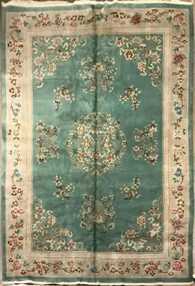 Lot: Antique Chinese Rug 6.7 x 9.10, Lot Number: 0029, Starting Bid: $1, Auctioneer: Jasper52, Auction: Persian, European & Asian Rug Auction, Date: April 9th, 2017 PDT