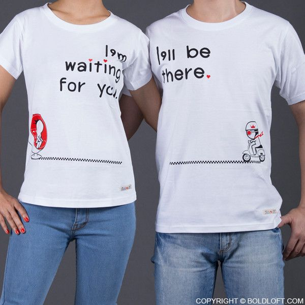 BoldLoft Love Is on The Way couple shirts let him know that your love with him is always connected no matter where you are-everywhere I Am There You'll Be. Perfect for long distance relationship, these his and hers shirts are the most perfect gifts for long distance love or love birds.