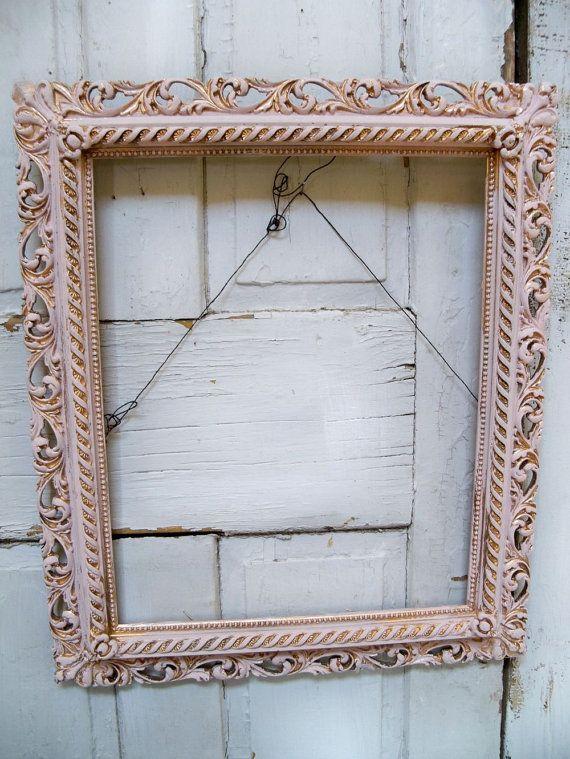 VIntage large ornate pink frame shabby chic by AnitaSperoDesign ...