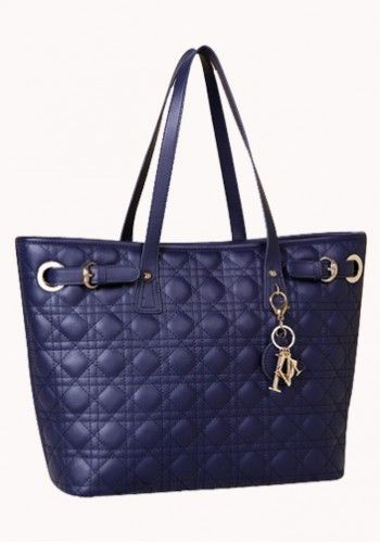 Milla Quilted Tote in Blue http://www.contempobags.com/milla-quilted-tote/