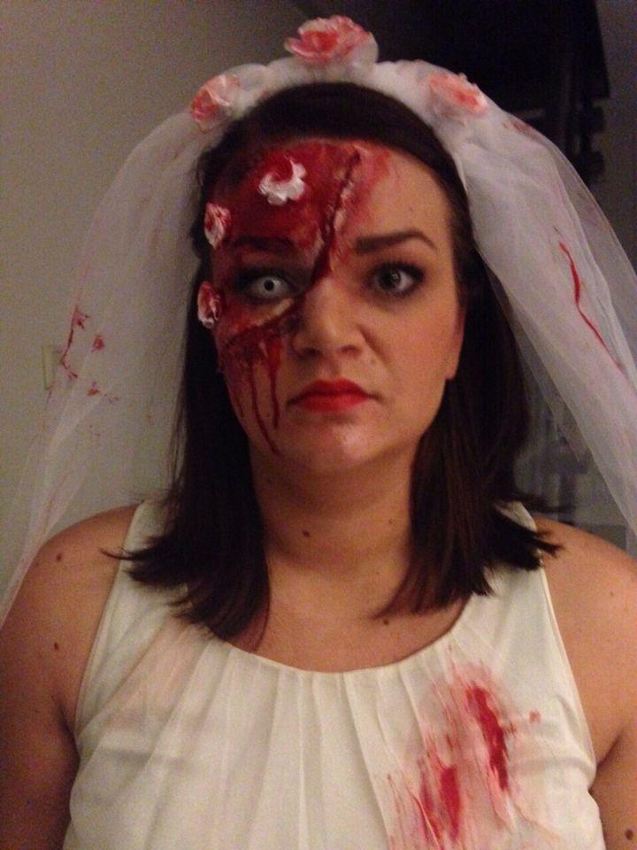 Carnaval 2015, zombie bruid! #loveit