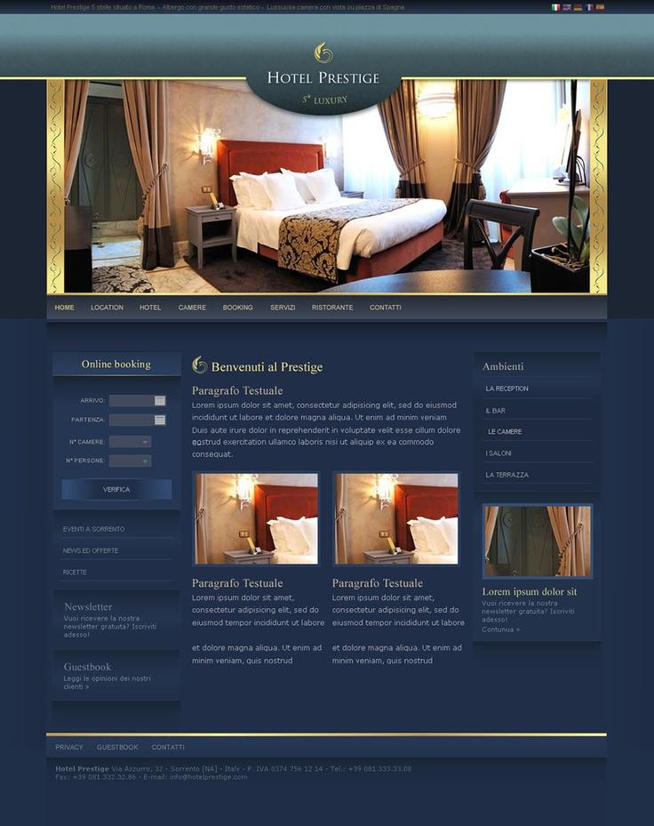 Hotel Prestige - Web Design by Anna Maria - GoAnna Designs