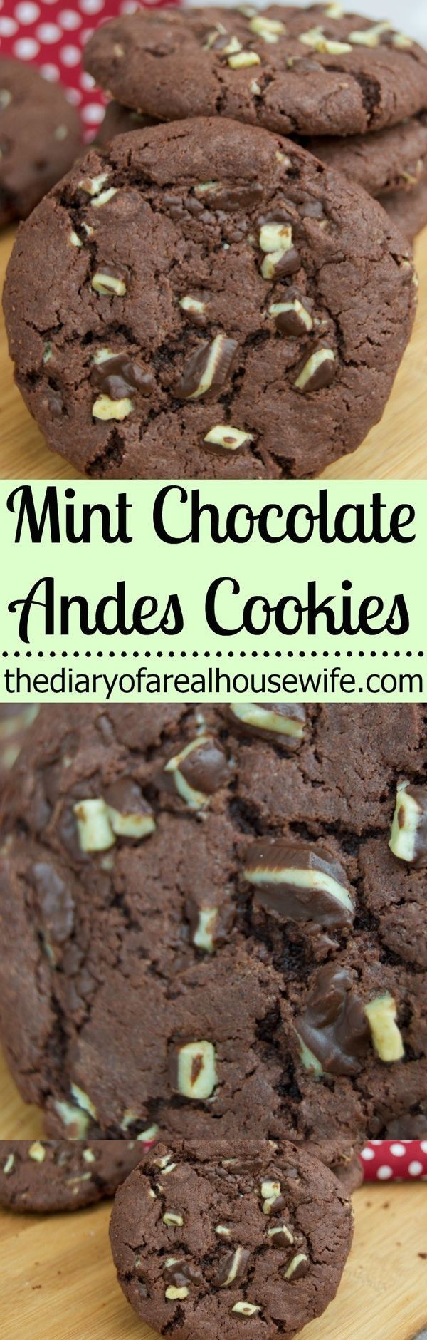 Mint Chocolate Andes Cookies