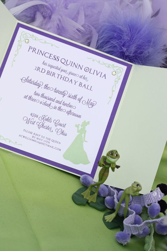 50 best Kinsleys 3rd birthday Princess Tiana party images on – Princess Tiana Party Invitations