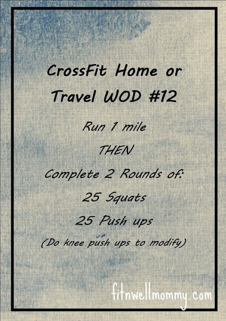 CrossFit Home WOD #12