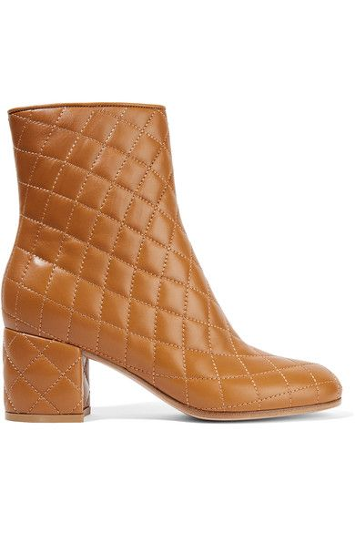 GIANVITO ROSSI Quilted leather ankle boots. #gianvitorossi #shoes #boots