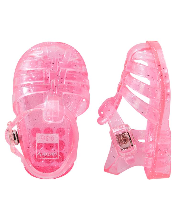 Baby Girl Carter's Jelly Sandal Crib Shoes | Carters.com need these for her walking days