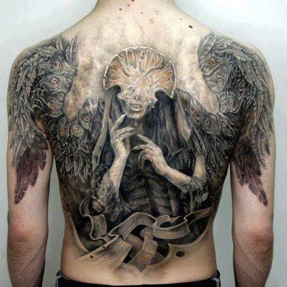 Hellboy ii angel of death tattoo amazing tattoos for Angel of death tattoo