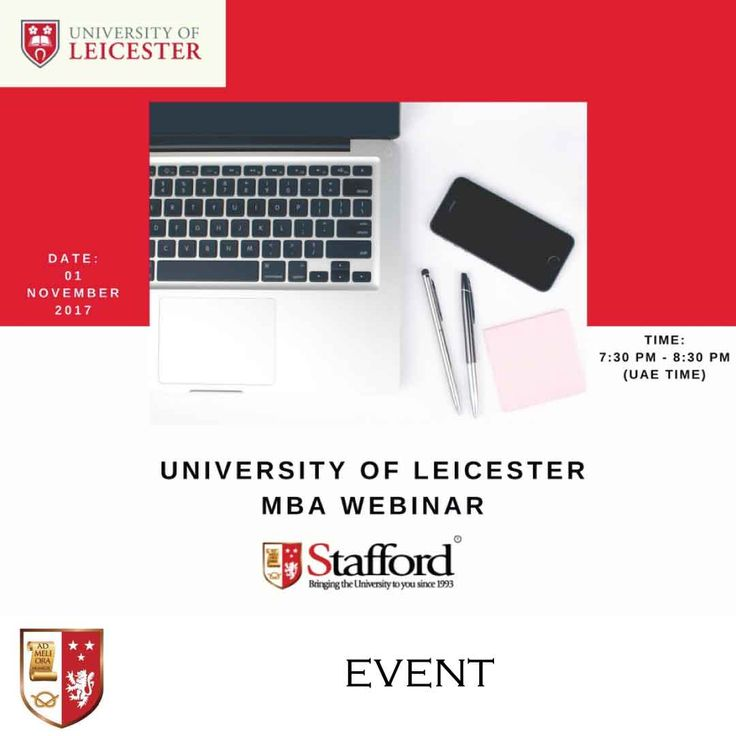 | University of Leicester MBA Webinar | Dr. Peter Rogers, an Associate Professor in Strategy and MBA Programme Director at the University of Leicester, will present details of the Leicester MBA programme at the webinar on the 1st of November, 2017. He will provide you details about the structure of the programme, how to complete it without leaving your work or family, and the value of the Leicester MBA for working professionals in the Middle East. Register now!