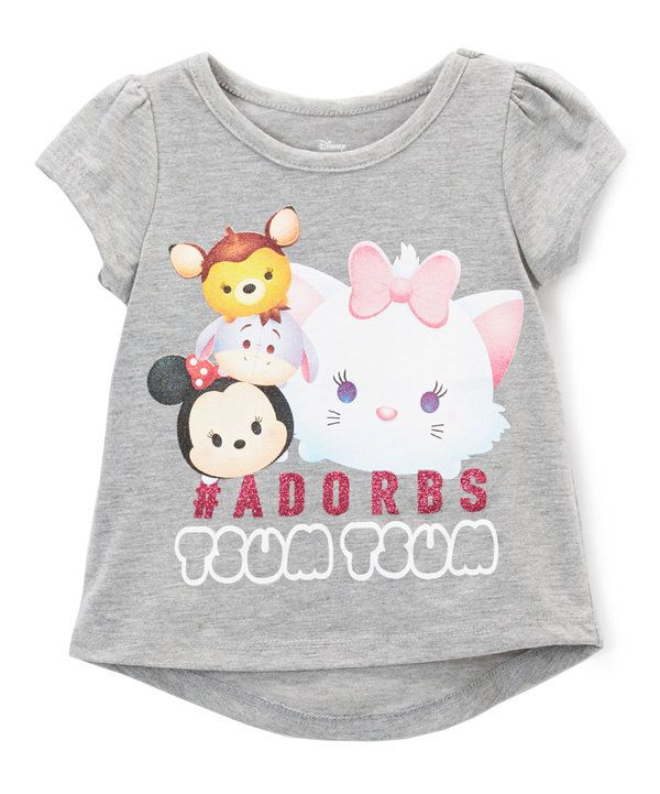 Look at this Disney Tsum Tsum Gray '#adorbs' Tee - Toddler on #zulily today!