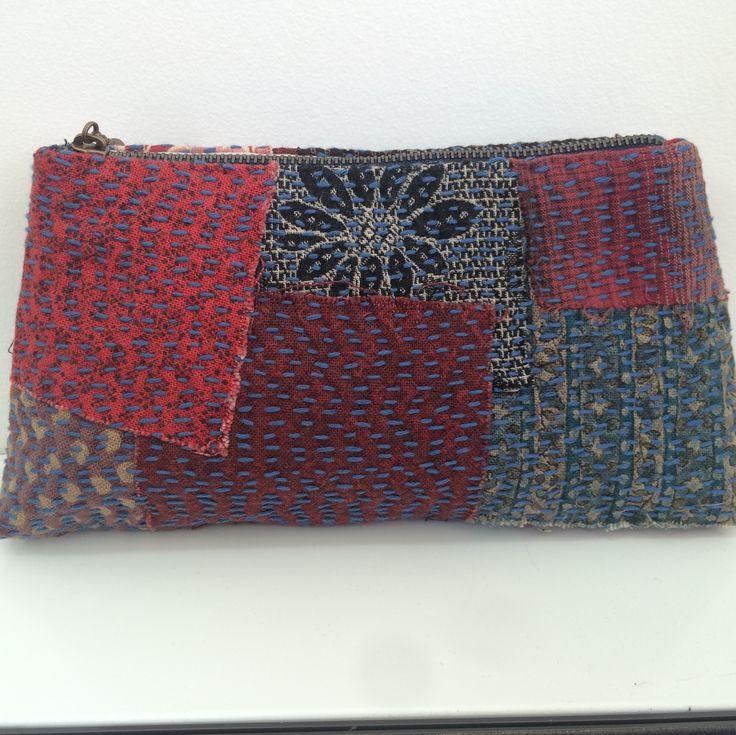 Boro inspired purse made by Clare Bosman..Love it!