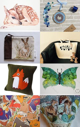Great British Woodland and Wildlife  by Sarah Jackson on Etsy--Pinned with TreasuryPin.com