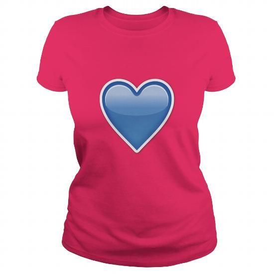 BLUE HEART Emoji shirt