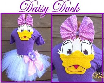 Daisy Duck Tutu Halloween Costume Set With Mask