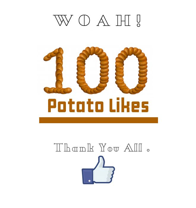 We have 100 Potato likes on Facebook!