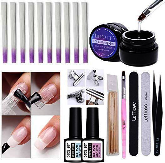 Home Blend Of Bites Fiberglass Nails Acrylic Nail Kit Nail Kit