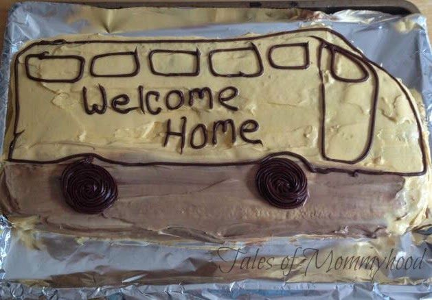welcome home cake for Mr. K on his first day of JK