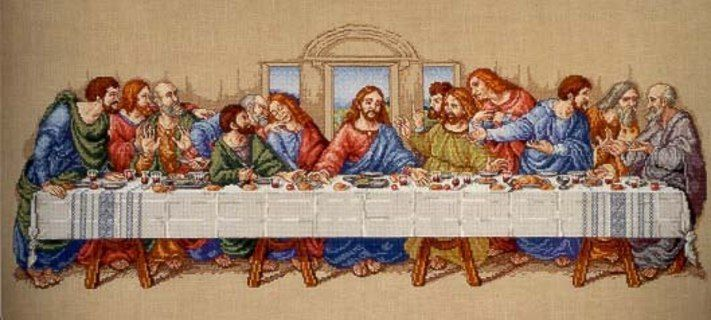 Lord's Supper Cross Stitch Pattern | Free Stuff: Last Supper Cross Stitch Pattern - Listia.com Auctions for ...