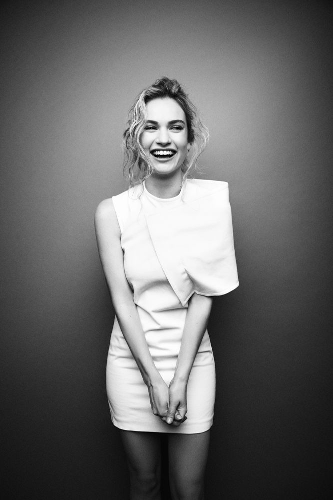 Lily James for Interview Magazine (January, 2015).