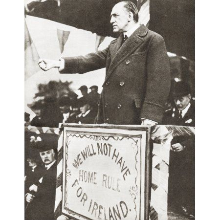 Edward Henry Carson Baron Carson 1854 - 1935 Aka Sir Edward Carson Or Lord Carson Irish Barrister Judge And Politician Leader Of The Irish Unionist Alliance And Ulster Unionist Party Between 1910 And