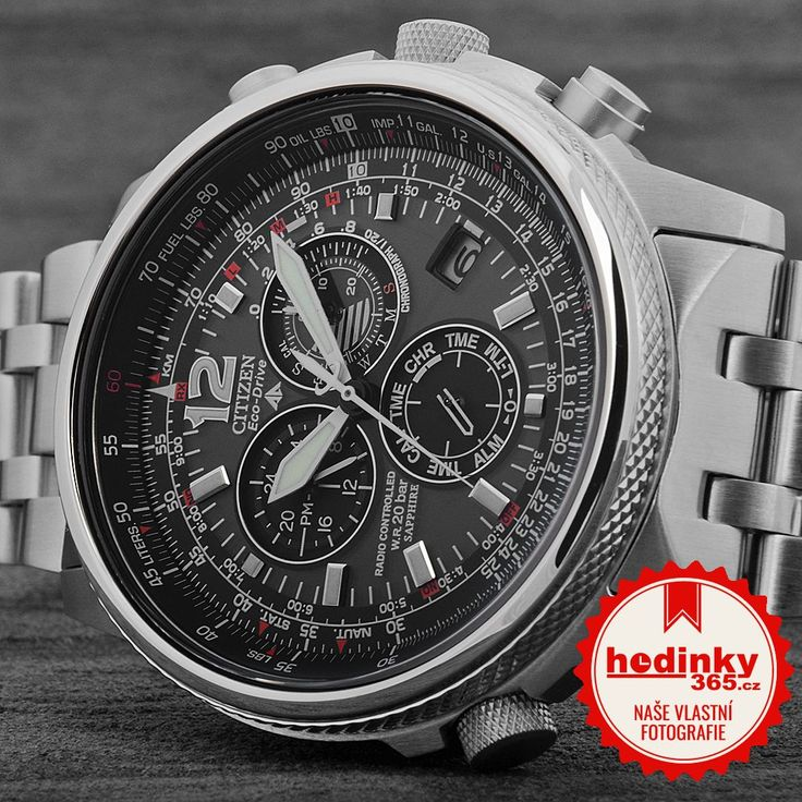 Citizen EcoDrive Pilot Radiocontrolled AS4020-52E