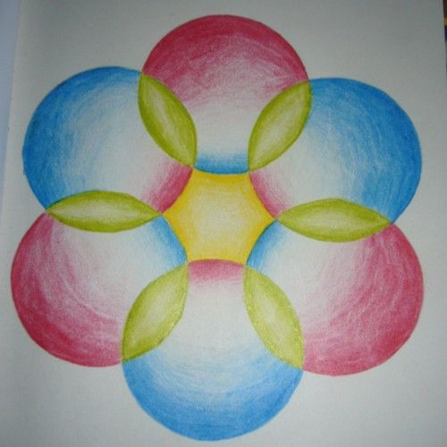Waldorf ~ 6th grade ~ Math ~ Geometry ~ The Six-Petalled Flower