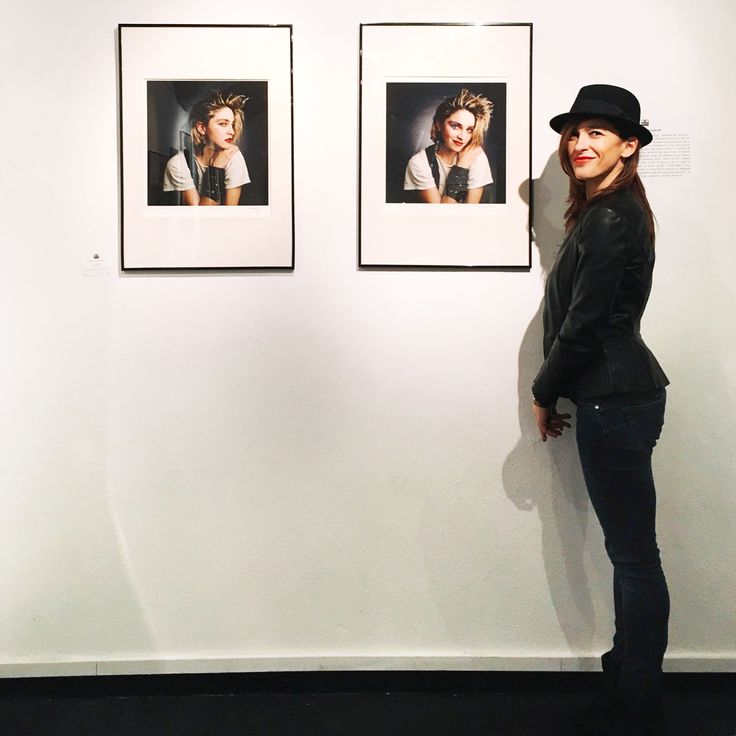 """Valeria Moschet at """"The Rise of a star"""" exhibit: young #Madonna's photos at OnoArte's gallery in #Bologna"""