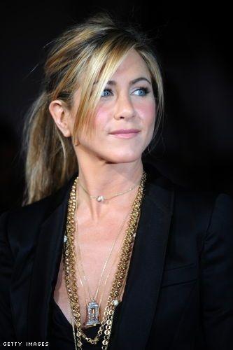 Jennifer Aniston - Ponytail with long fringe.