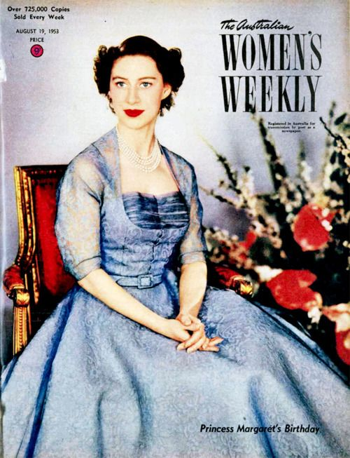 Princess Margaret on the cover of the Australian Womens Weekly, 1953.