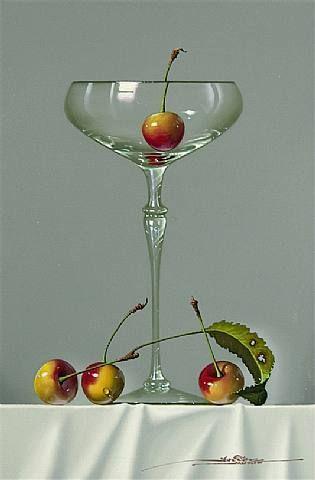 Javier Mulio - Still Life With Cherries - Spain Art - Artwork Details