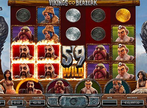Игровой автомат Vikings go Berzerk на деньги Vikings go Berzerk – игровой аппарат от компании Yggdrasil, посвящённый скандинавским воинам. Особенностью автомата являются фриспины с множеством бонусов. Также вы будете выигрывать реальные деньги при помощи специальных знаков и 25 линий.