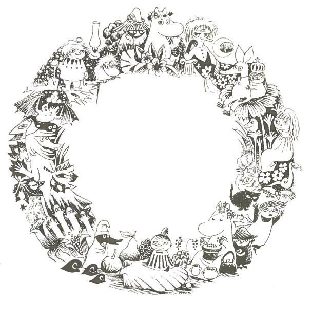 moomin wreath