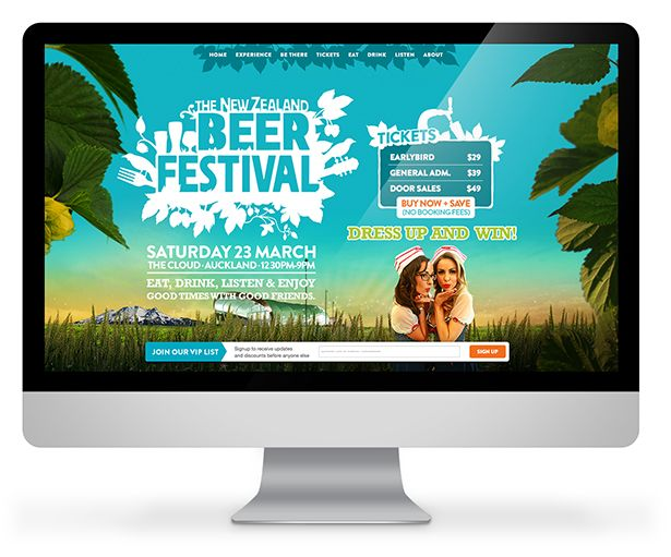 """The NZ BeerFestival gave Little Giant a fairly open & simple brief for their website, """"Make it look amazing"""". With this level of creative freedom, we set about designing a website for desktop and mobile devices that would win awards.  Check out more of Little Giant's work here: http://www.littlegiant.co.nz/portfolio/"""