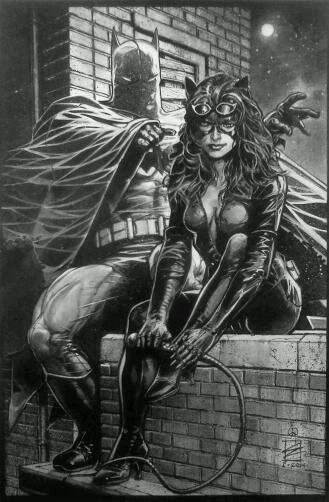 Batman & Catwoman by Eddy Newell #DC illustration @Pyra2elcapo