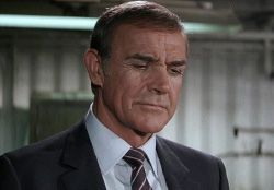 Sean Connery as James Bond in Never Say Never Again (1983), his last Bond.