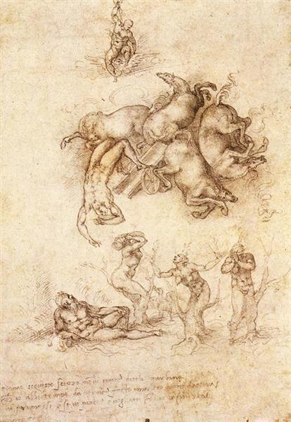 La caída de Faetón, 1533