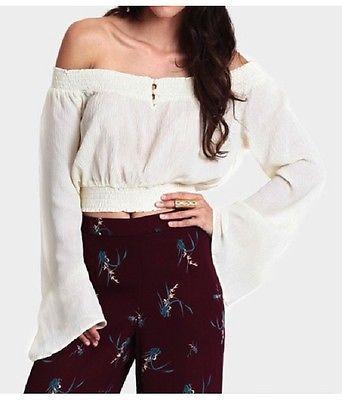 XS-XXL White Lady Womens Clothing Korean Fashion Off Shoulder Crop Tops Blouse | eBay