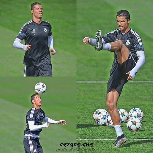 Cristiano Ronaldo joined Real Madrid's final training session before the…